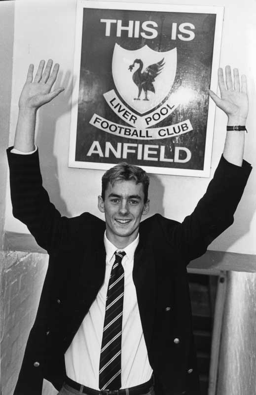 Don Hutchison signs for Liverpool, November 1990