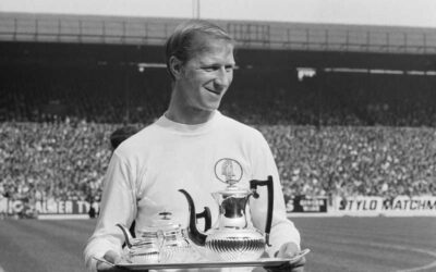Jack Charlton serves the team tea…