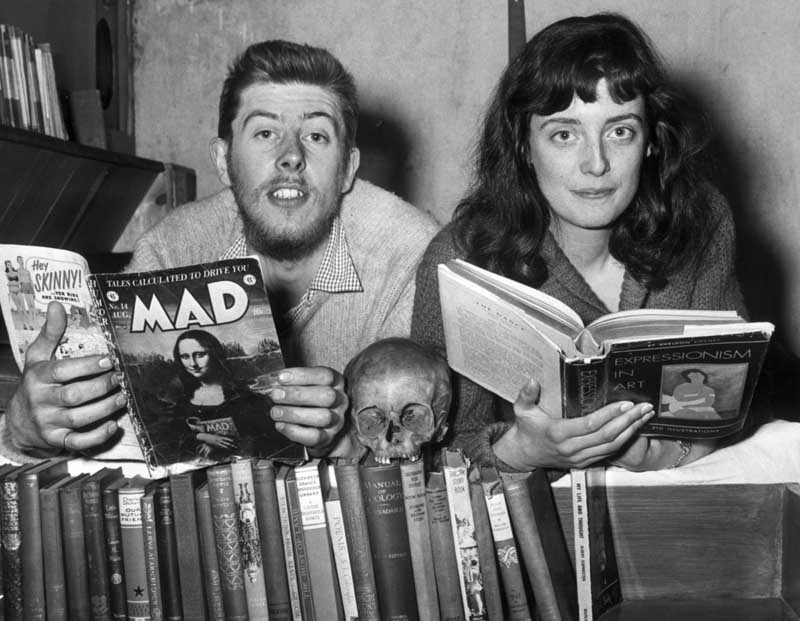 Manchester musician John Mayall with his wife Pamela, May 1956