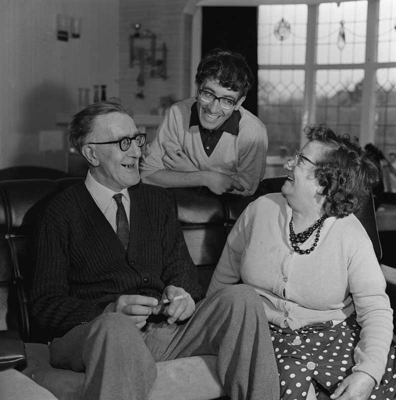 Family reunion: Freddie Garrity with his Mum and Dad at home in Gatley, Cheshire, May 1965