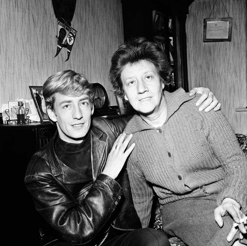 Rory Storm (real name Alan Caldwell) and his mother Violet, November 1965
