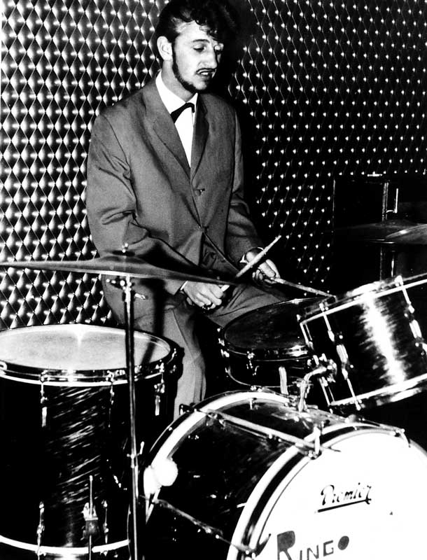 Ringo Starr, then Ritchie Starkey, in his pre-Beatle days, January 1962