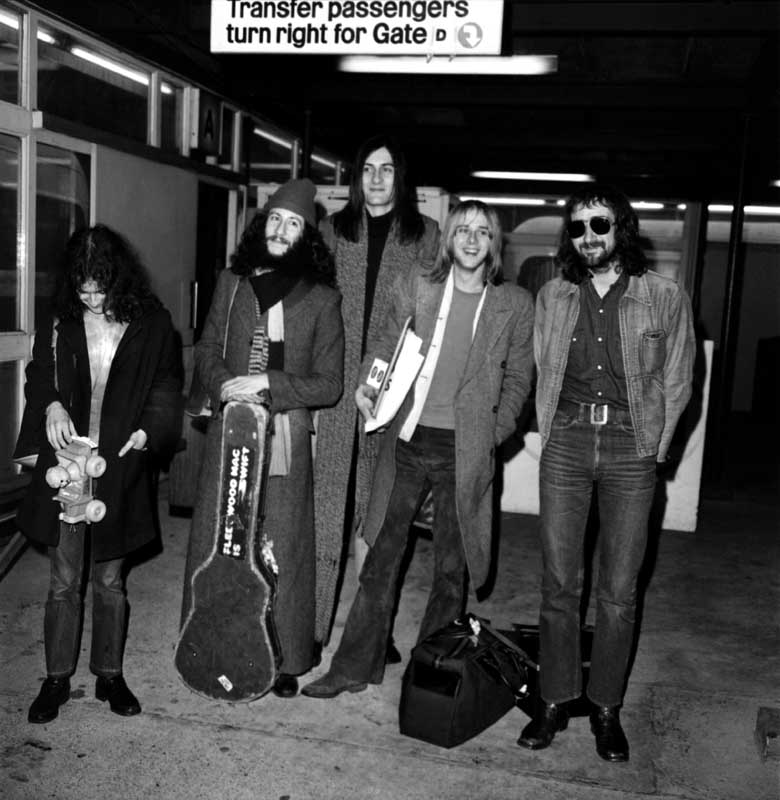 Fleetwood Mac, including former Bluesbreakers Nick Fleetwood, John McVie and Peter Green, February 1970