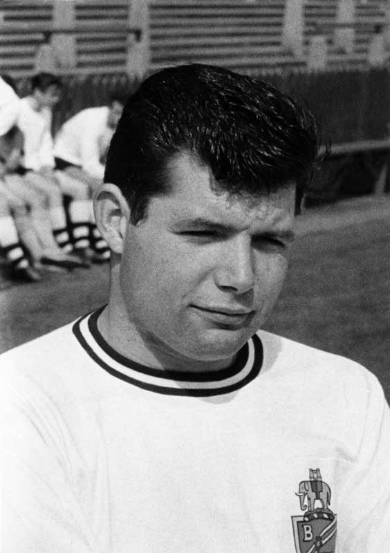 Barry Fry as a Bolton player, August 1964