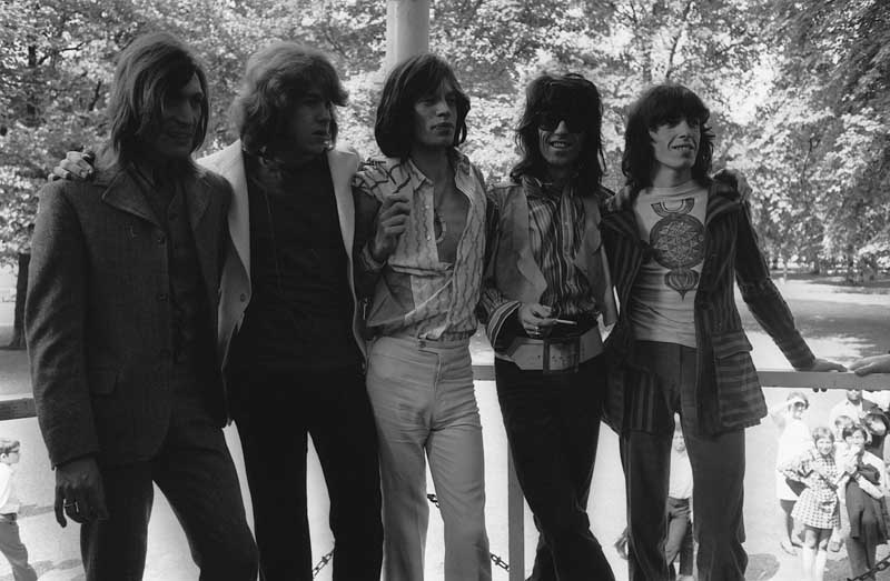 Mick Taylor, second left, is unveiled as the Rolling Stones' new guitarist, June 1969