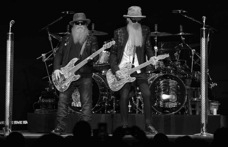 Billy Gibbons, right, of ZZ Top helped record a 40th anniversary album with John Mayall, July 2019