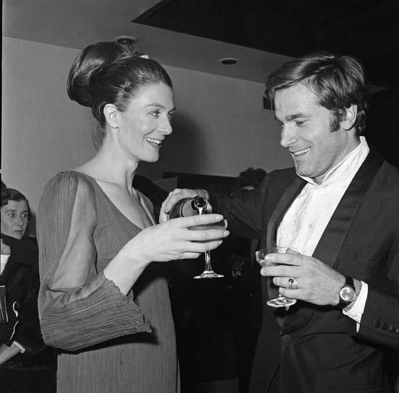 Vanessa Redgrave enjoys a surprise reunion with Franco Nero in Manchester, January 1969