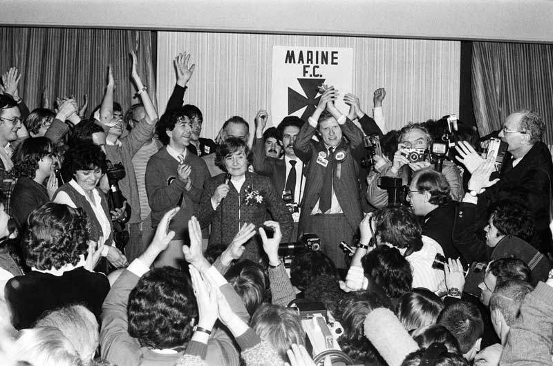 A massive night for the SDP faithful as they take Crosby from the Tories, November 1981