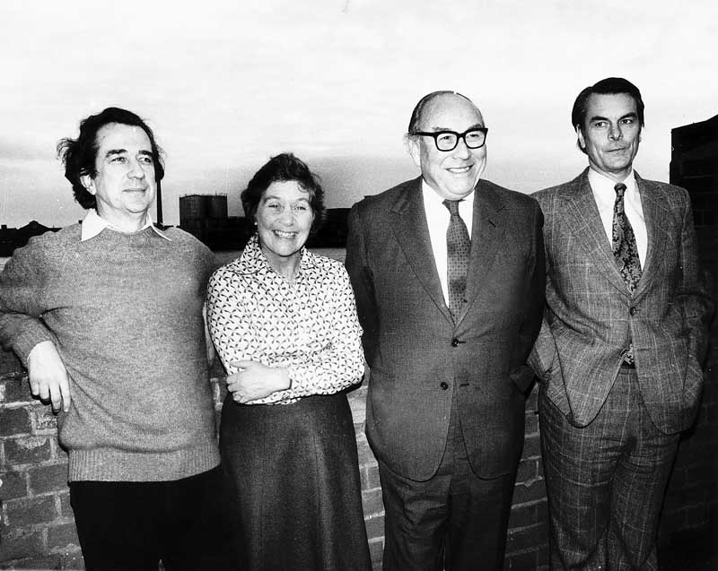 The SDP 'Gang of Four' - Bill Rodgers, Shirley Williams, Roy Jenkins and David Owen, January 1981