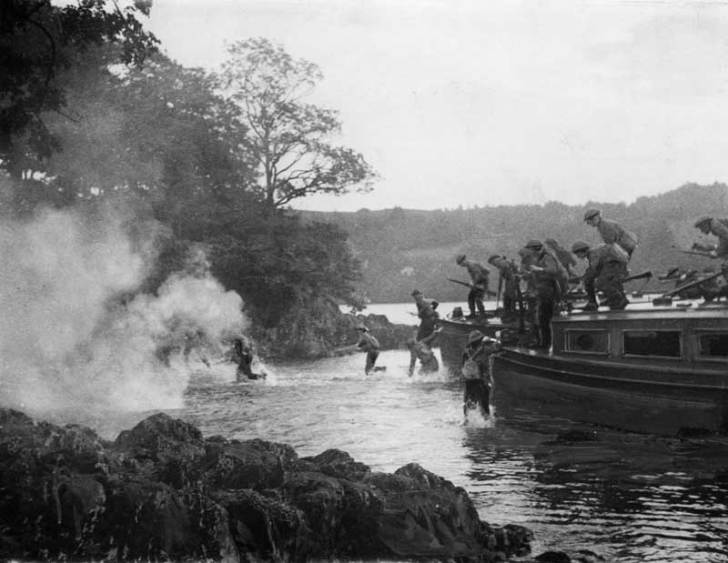 The Home Guard carry out a landing exercise on Lake Windermere, September 1942