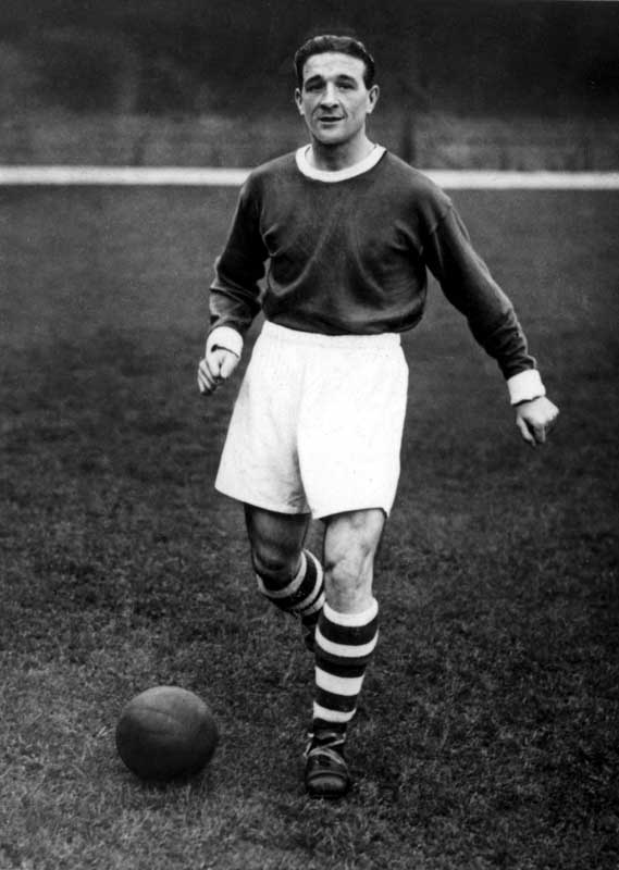 Future colleague Bob Paisley in his playing days for Liverpool, April 1950