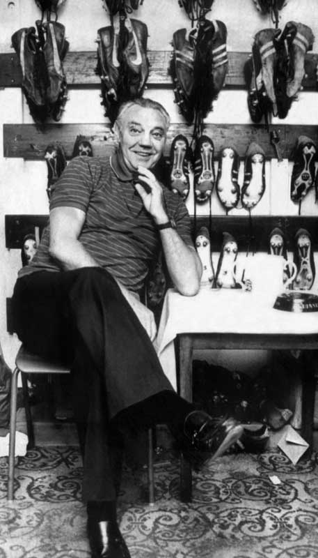 Liverpool manager Joe Fagan in the Anfield Boot Room, March 1984