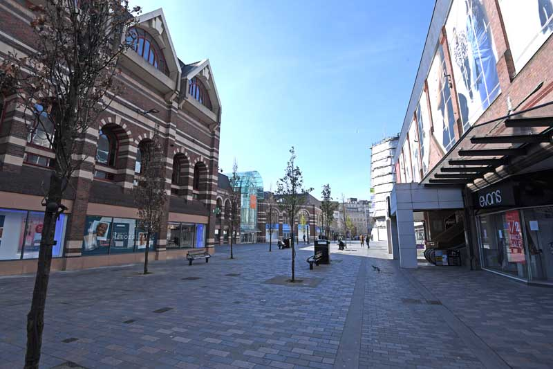 Deserted streets of Liverpool city centre  Photo by Colin Lane