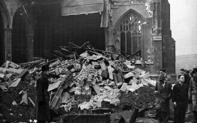 Manchester Cathedral Bombed