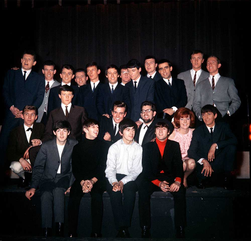 The line-up at the Astoria featuring the Dakotas, the Beatles and Cilla Black, December 1963