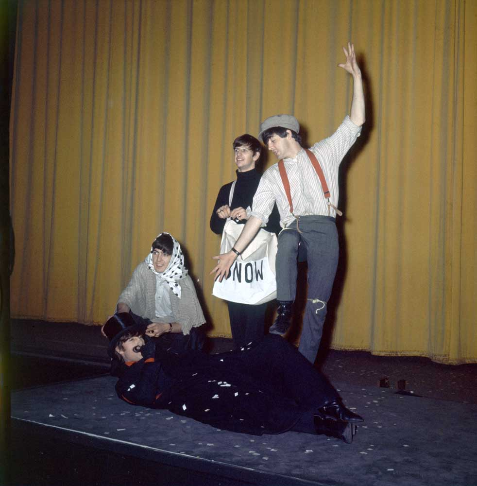 Rare rehearsals for sketches in the Beatles' Christmas show, December 1963