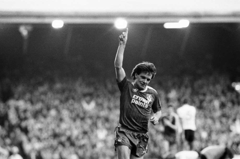 Ray Houghton scored for Liverpool in the December 1988 Christmas derby