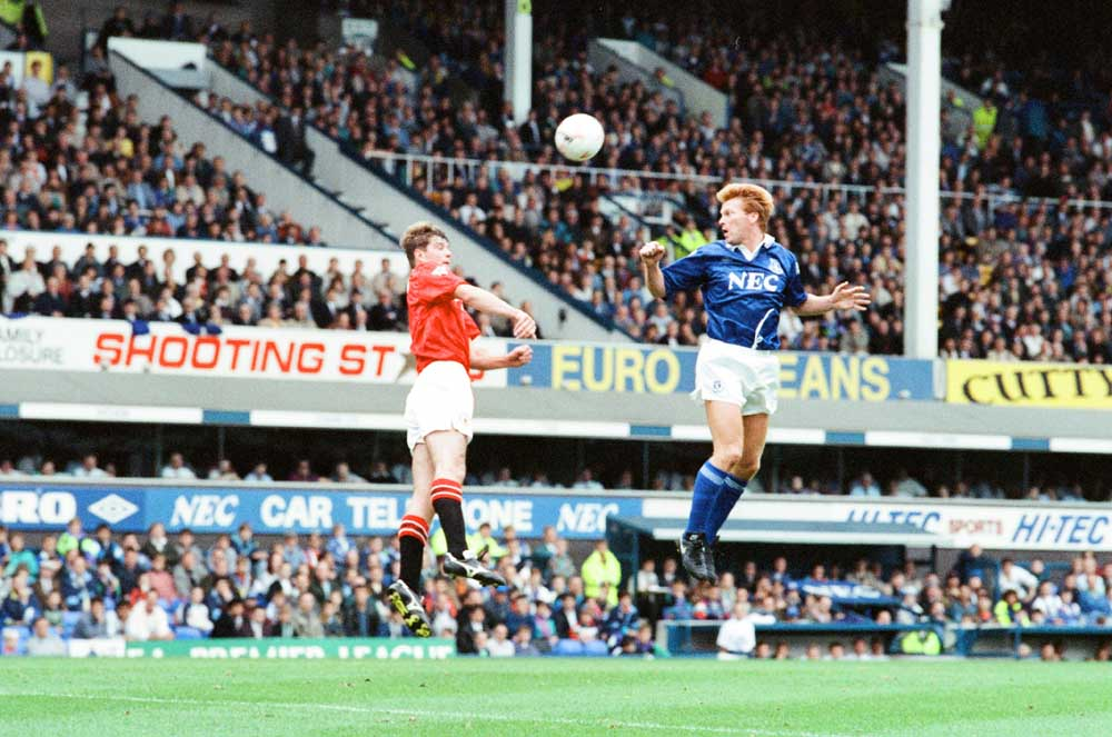 Mo Johnston was on the scoresheet for Everton in the December 1992 seasonal derby