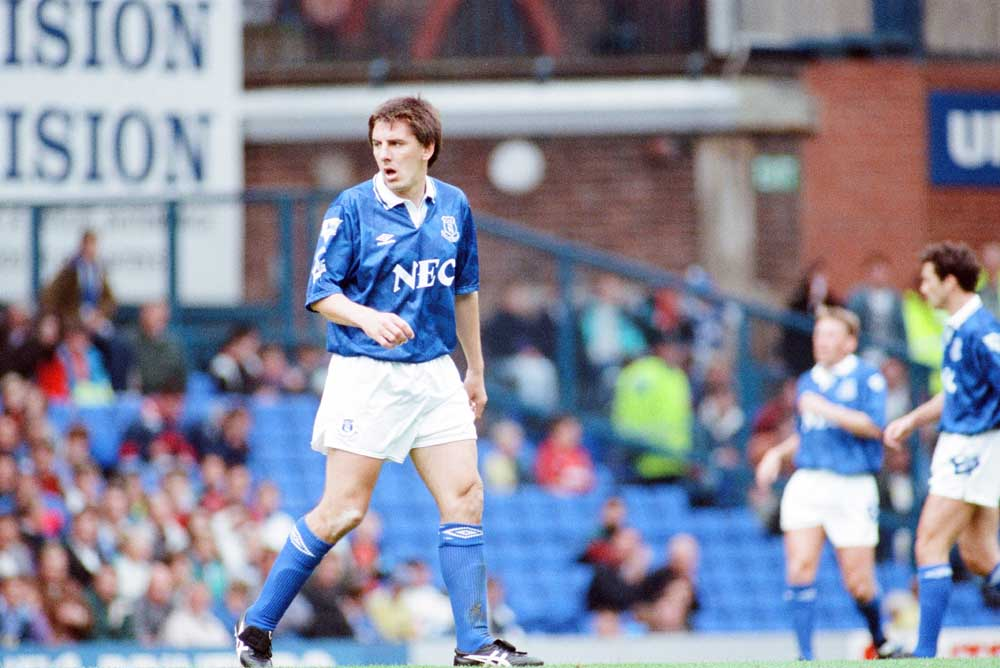 Peter Beardsley netted for Everton in the December 1992 Christmas derby