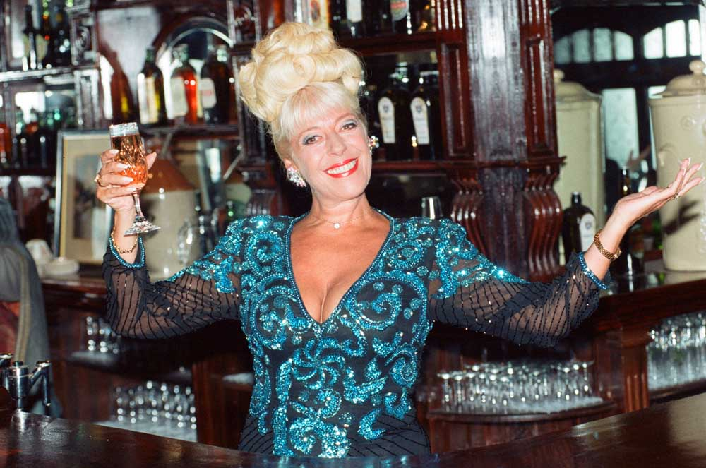 Middleton actress Julie Goodyear as Coronation Street's Bet Lynch, May 1994
