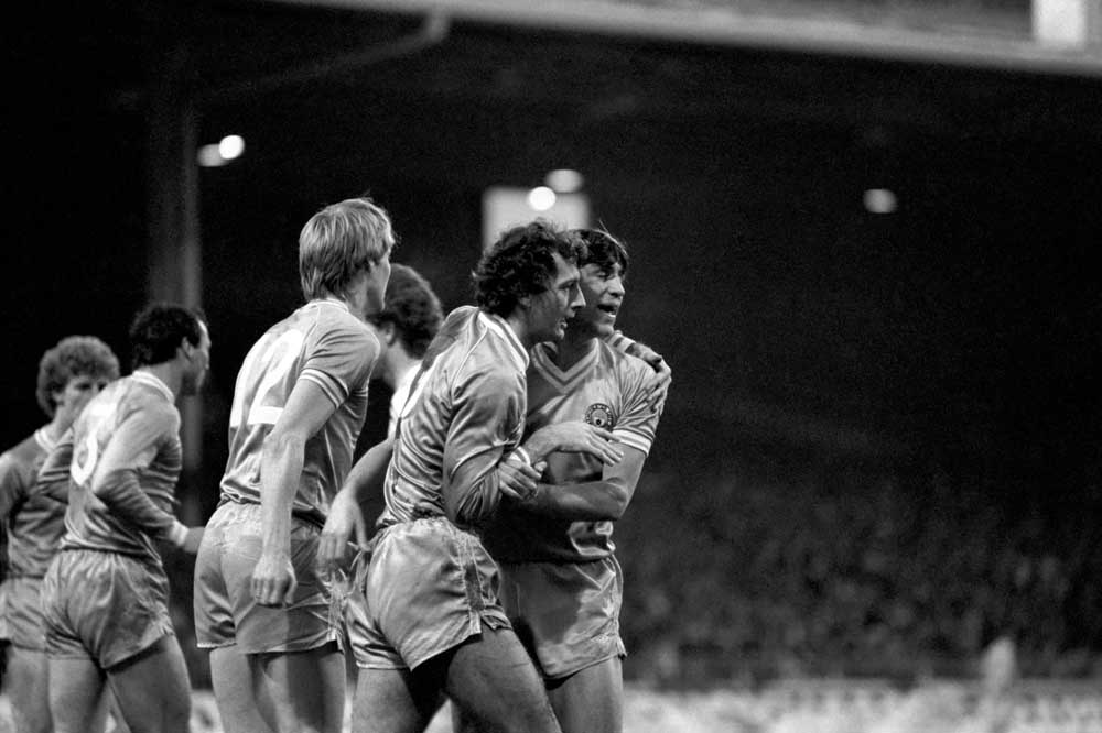 Trevor Francis scores two at Maine Road