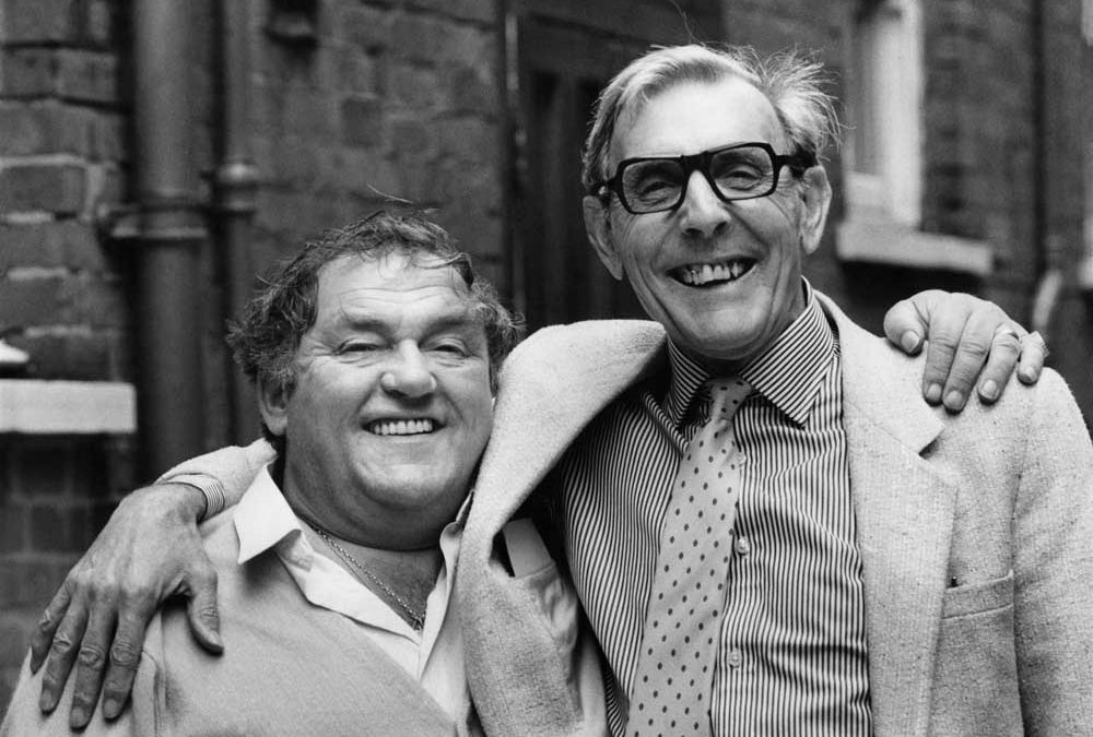 Collyhurst comedian Les Dawson with Eric Sykes, May 1986
