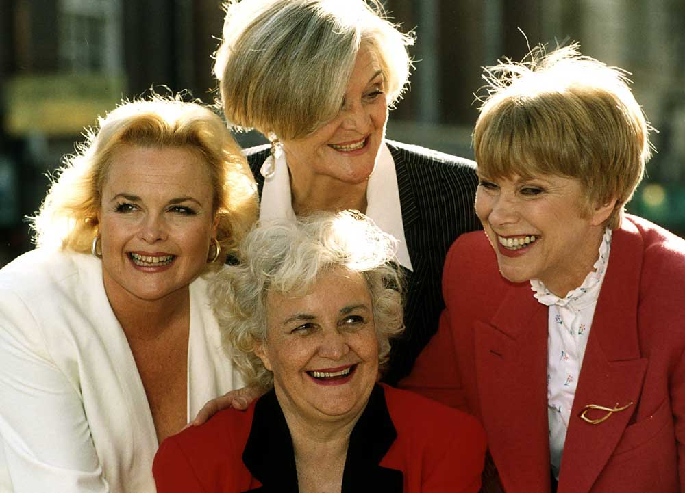 Sheila Gish, Sheila Hancock, Wendy Craig and Jean Boht, front, in Brighton Belles, March 1993