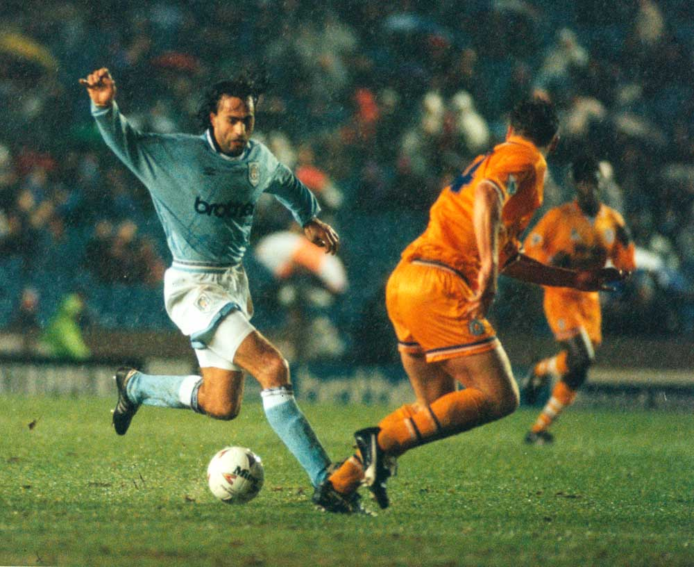 Maurizio Gaudino on the ball for the Blues against Leeds United, January 1995