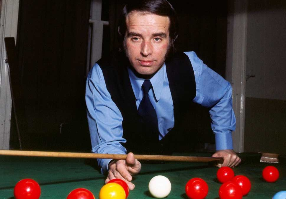 Bury snooker player John Spencer at the table, March 1975