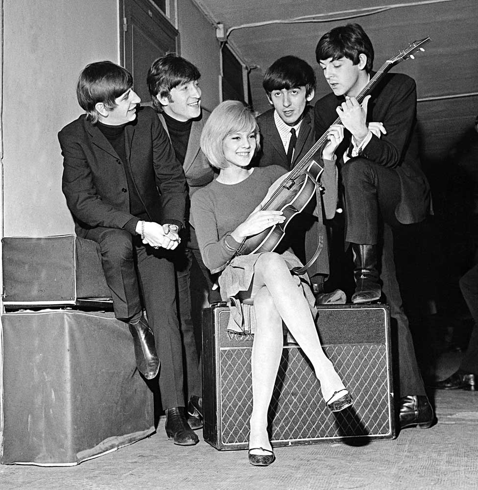 French singer Sylvie Vartan – on the same bill as the Beatles, January 1964