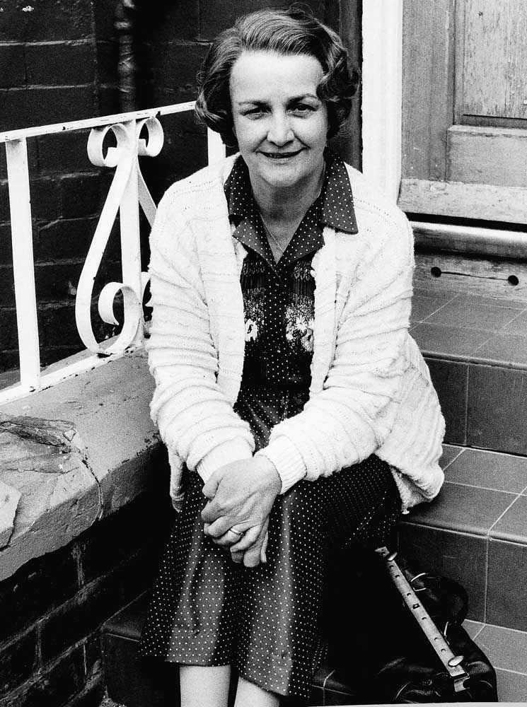 Resting between takes - Jean Boht as Ma Boswell in Bread, September 1987
