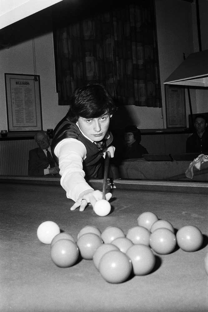 Future snooker star Jimmy 'Whirlwind' White at the age of 17, March 1979