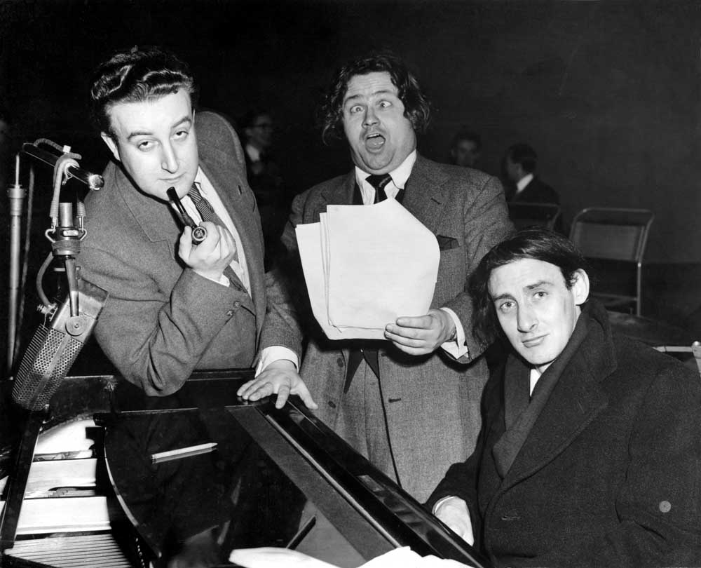 The Goons – Peter Sellers, Harry Secombe and Spike Milligan, April 1953