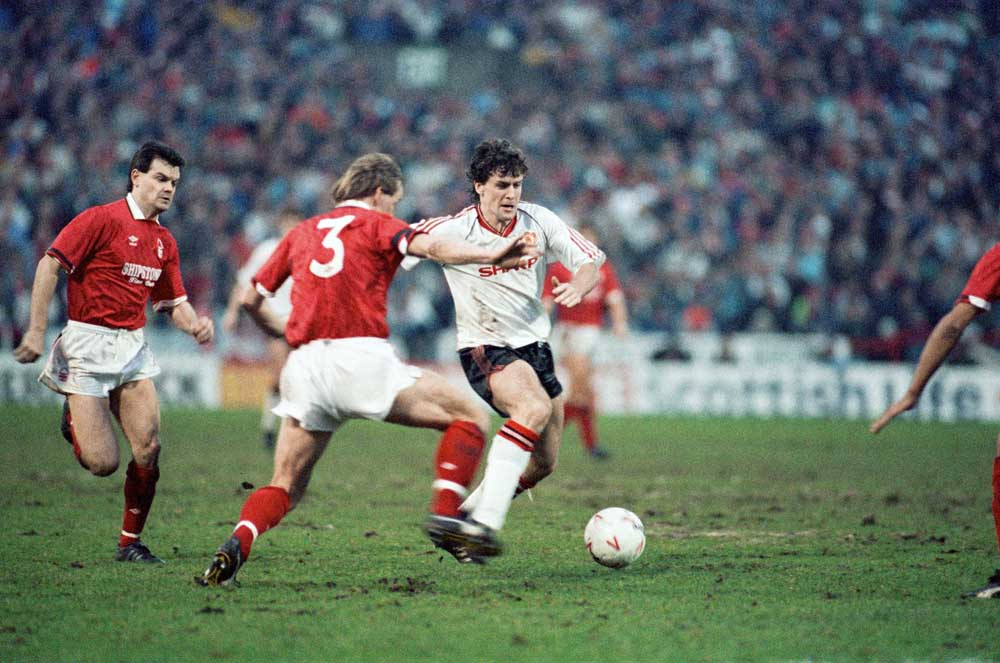 Forest v United FA Cup tie Jan 1990