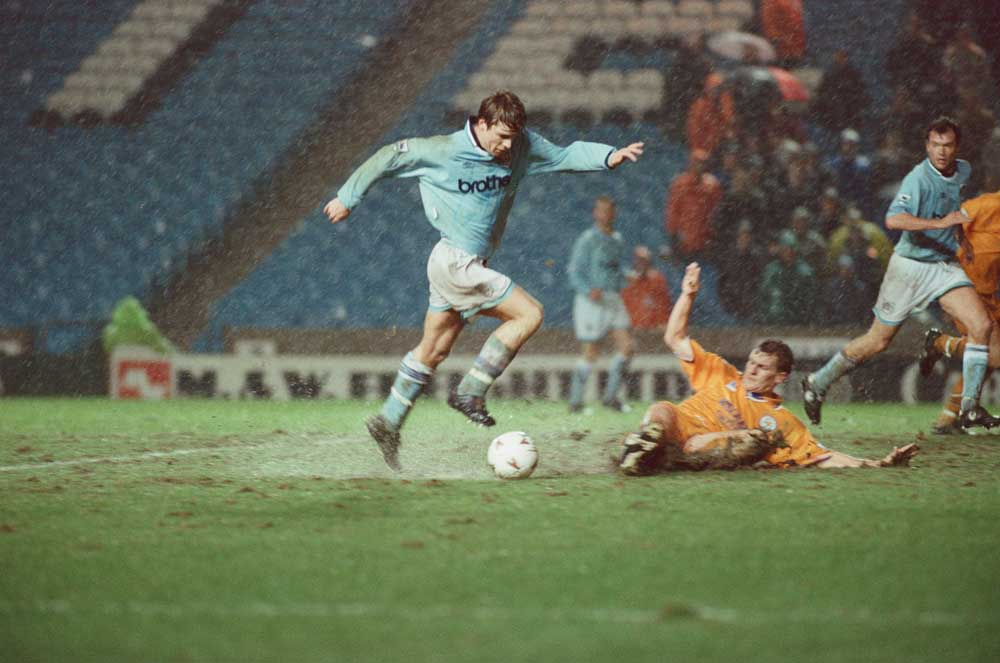 Manchester City verses Leicester City, at Maine Road, Manchester.  25th January 1995