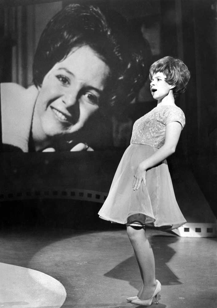 Brenda Lee appearing on Top of the Pops in Manchester, August 1964