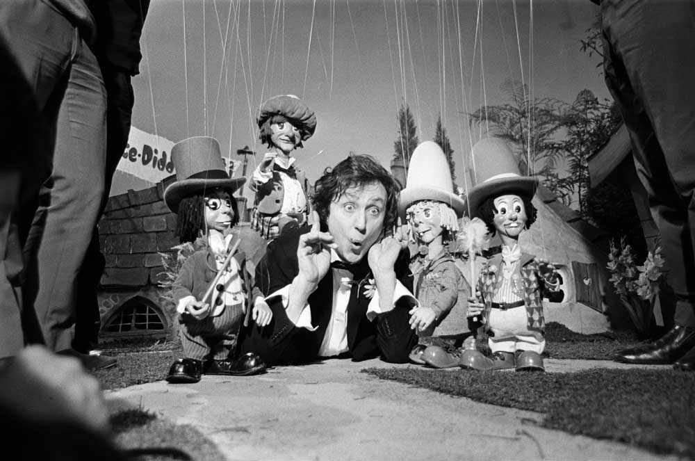 Ken Dodd and his Diddymen filming at Dickenson Road, November 1968