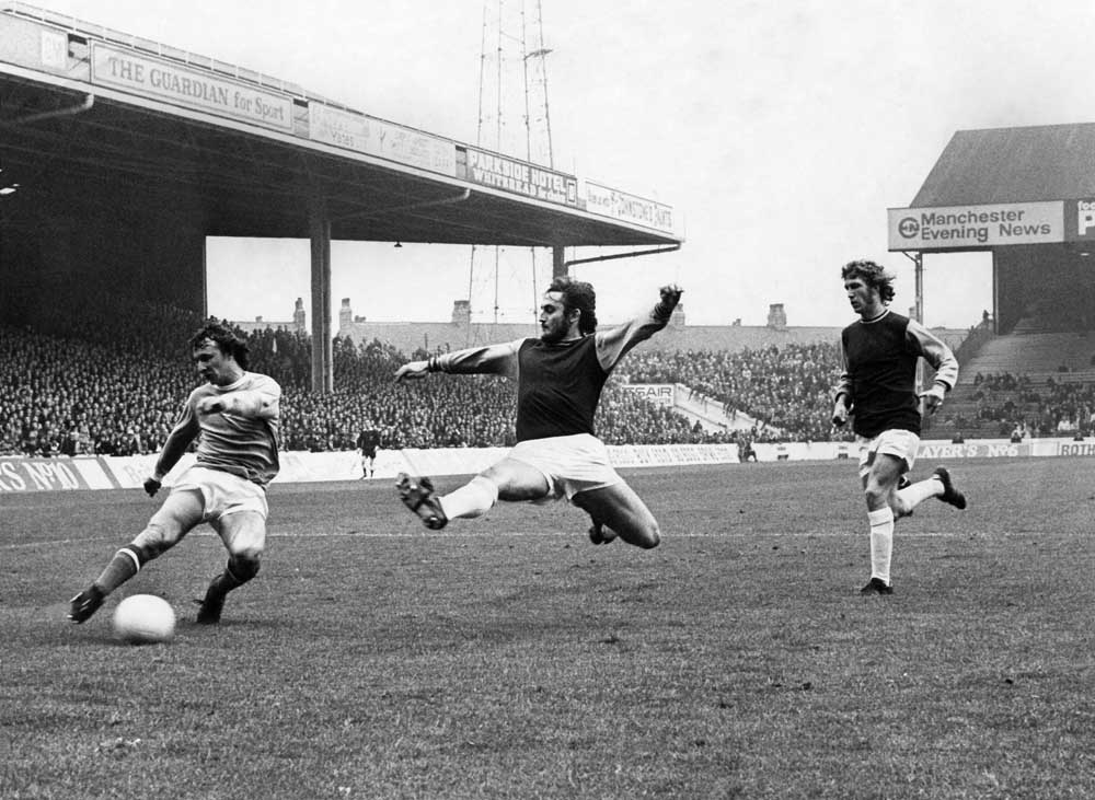 Mike Summerbee scores City's fourth in a 4-3 home victory over West Ham, October 1972