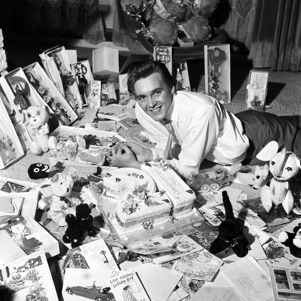 Fans deluge Billy Fury with cards on his 21st birthday, April 1962