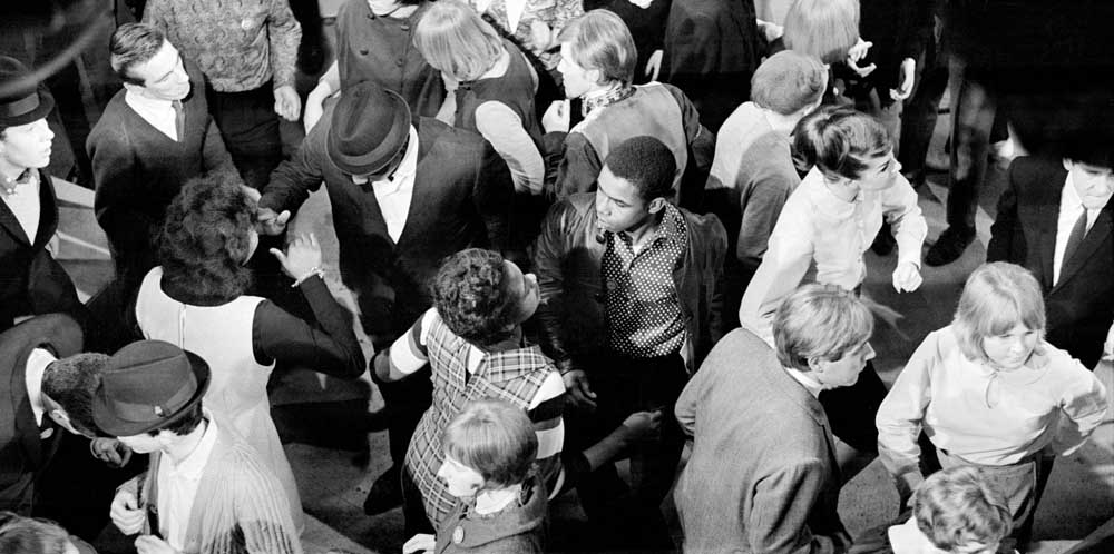 Youngsters dancing in the Ready Steady Go! audience, February 1964