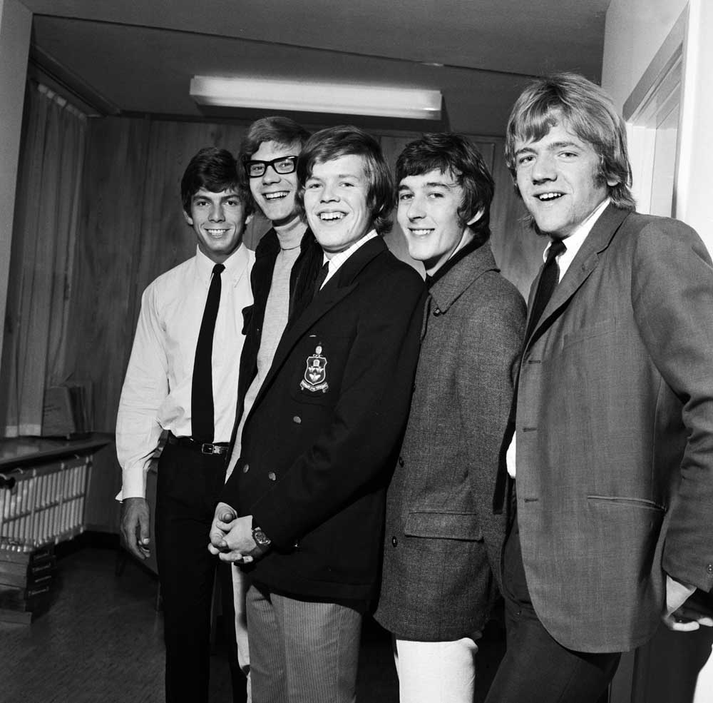 Lead singer Peter Noone, centre, with his band Herman's Hermits, June 1966