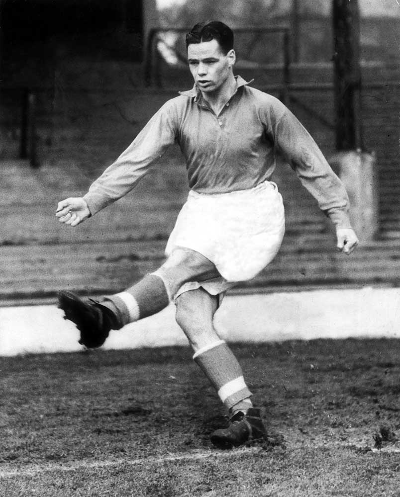 Action shot of Billy Liddell at Anfield, March 1951