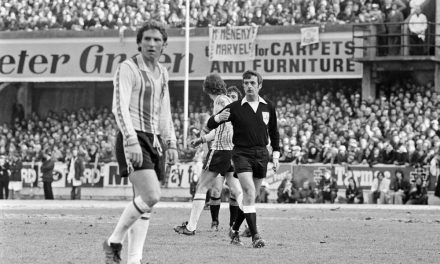 Farnworth-born football hero Alan Ball in action