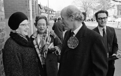 Chancellor out canvassing for February '74 General Election