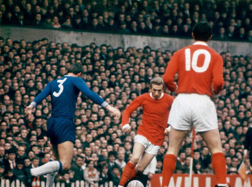 Denis Law takes on Notts Forest this week in 1967