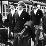 Manchester City players at Piccadilly Station 1969