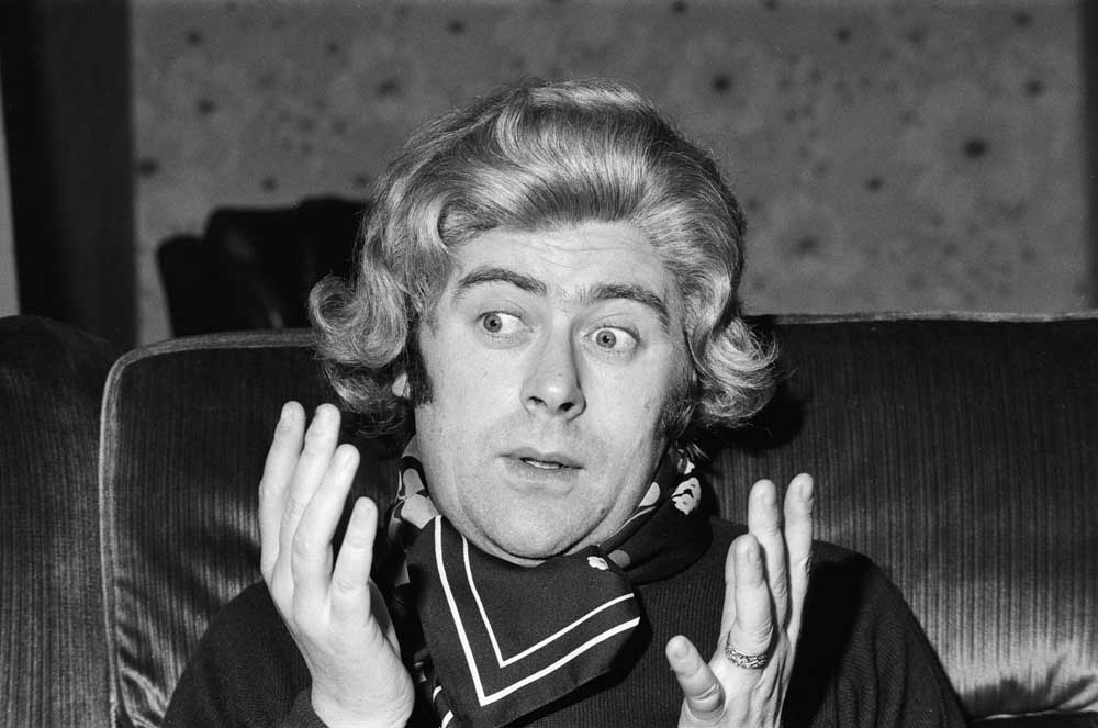 Mike Yarwood, English impressionist, comedian and actor.impersonating politician Margaret Thatcher.