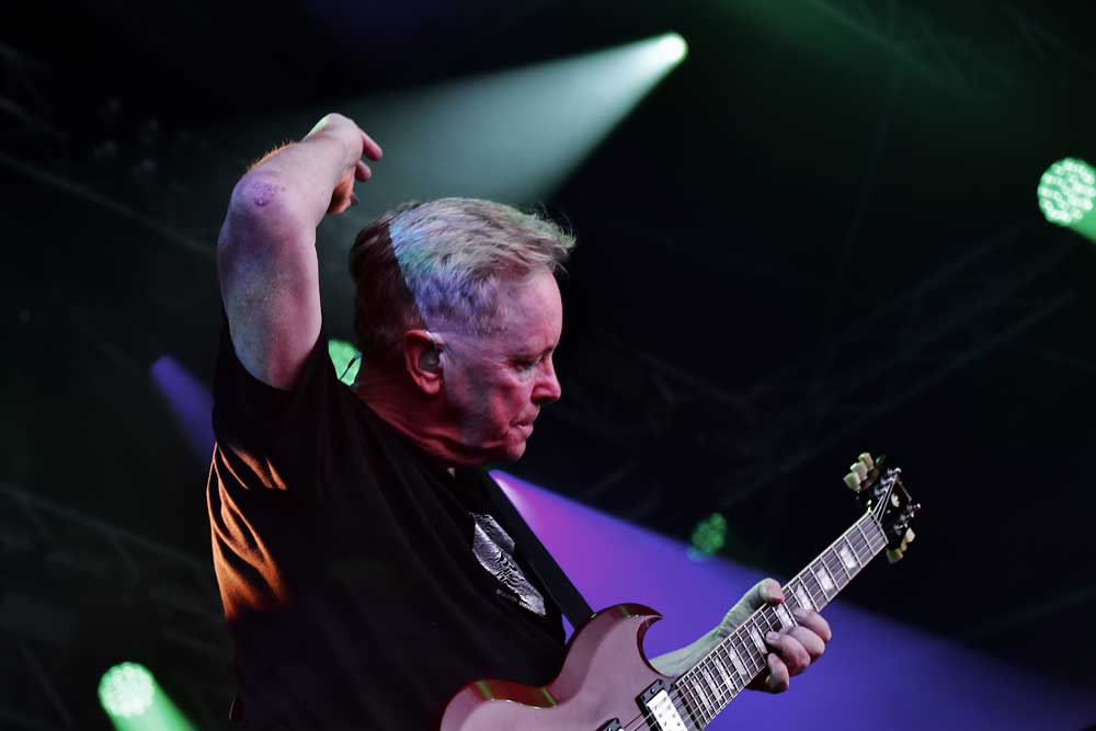 New Order performing live, July 2019