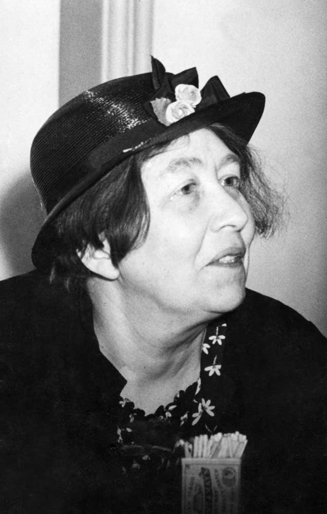 Suffragette Sylvia Pankhurst 20 years after women won the vote, May 1938