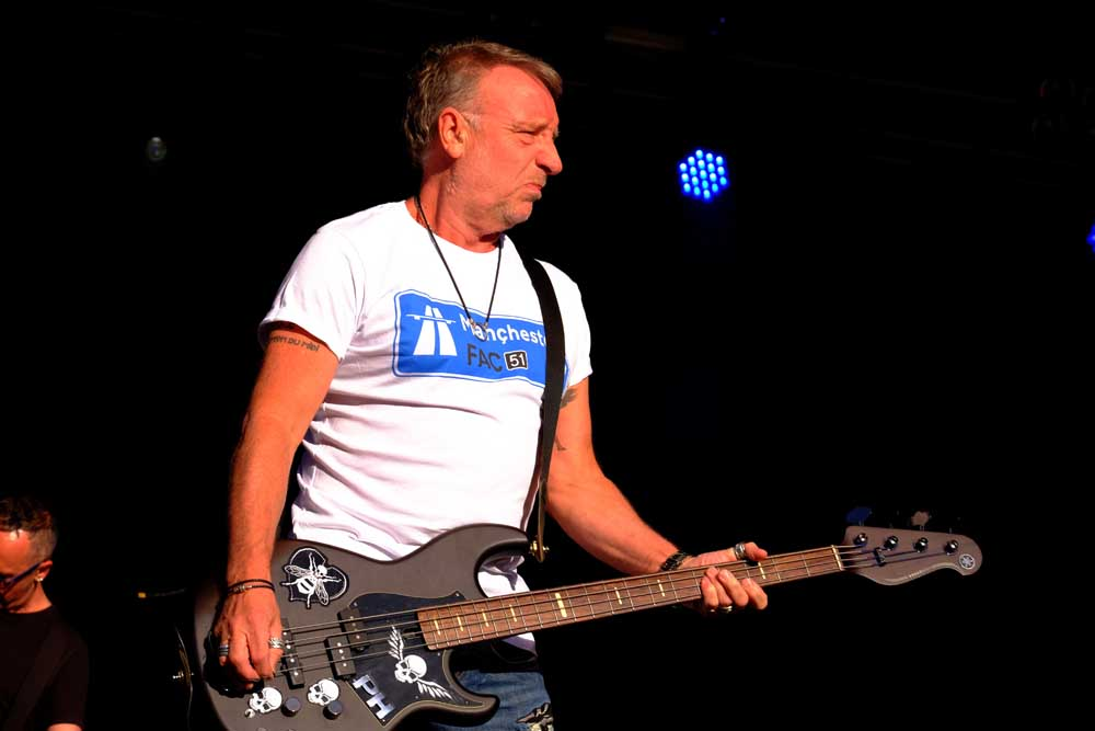 Peter Hook on stage with New Order, June 2018